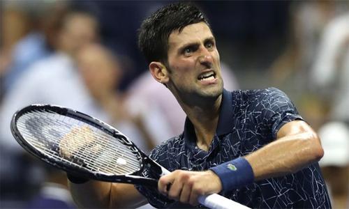 Djokovic mừng chiến thắng sau gần ba giờ đồng hồ thi đấu. Ảnh: Sky Sports.