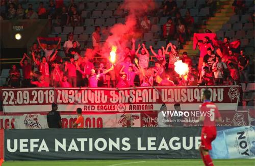 Nations League mang lại bầu không khí cuồng nhiệt chưa từng cho cho những trận cầu từng bị xem là chán ngắt như trận Armenia - Liechtenstein ở bảng 4, League D hôm qua.