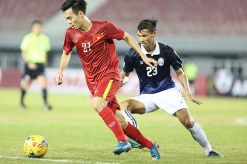 Trận Việt Nam thắng Campuchia 2-1 tại vòng bảng AFF Cup 2016 ở Nay Pyi Taw, Myanmar. Ảnh: Đức Đồng.