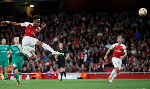 Aubameyang ghi 9 bàn và kiến tạo 3 bàn trong 10 trận của Arsenal trên sân nhà.