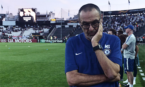 Sarri không dấu âu lo với lịch thi đấu quá sát nhau giữa Europa League với Ngoại hạng Anh. Ảnh: CFC.