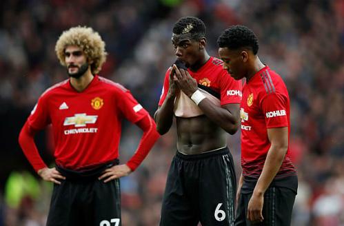 Sự thất vọng của Pogba và các đồng đội sau trận đấu. Ảnh: Reuters.