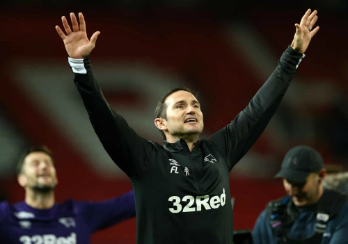 Lampard có dấu ấn đáng nhớ đầu tiên trên ghế huấn luyện sau khi nhận lời dẫn dắt Derby vào hè 2018. Ảnh: AFP.