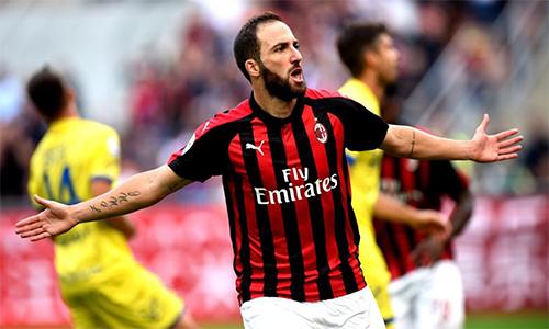 Gonzalo Higuain đã ghi bốn bàn cho Milan tại Serie A mùa này.