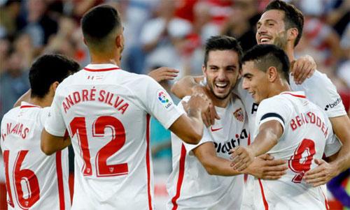 Sevilla đang chơi rất ổn định dưới sự dẫn dắt của HLV mới Pablo Machin. Ảnh: Marca