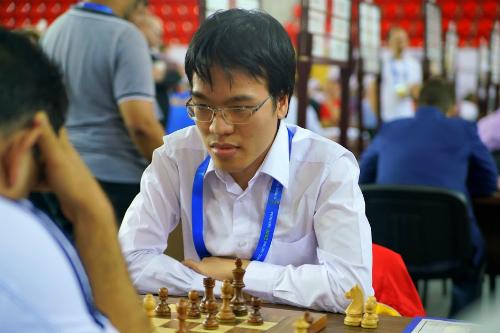 Quang Liêm vừa đạt thành tích tốtở Olympiad cờ vua, bất bại qua 10 ván đấu. Ảnh: BCO.