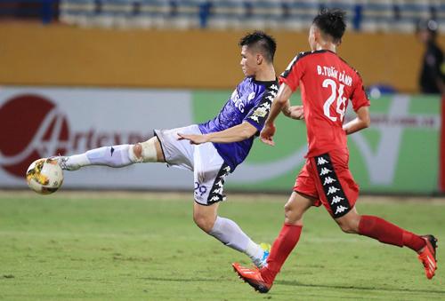 Đội thắng trong cặp đấu giữa Hà Nội và Bình Dương sẽ đối đầu Thanh Hóa trong trận chung kết Cup Quốc gia - Sư tử trắng. Ảnh: Quang Minh
