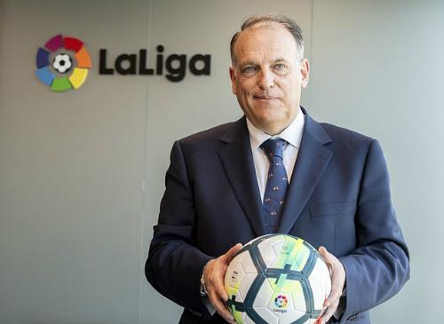 Chủ tịch La Liga Javier Tebas. Ảnh: AS.