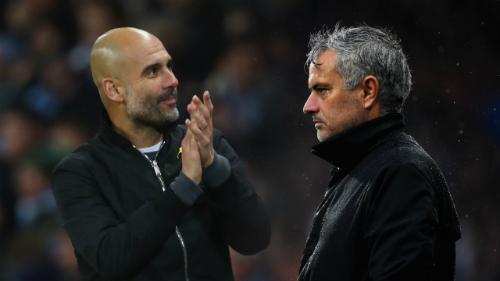 Guardiola và Mourinho đang làm việc tại Ngoại hạng Anh. Ảnh: AFP.
