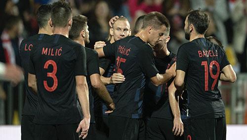 Croatia có chiến thắng nhẹ nhàng 2-1 trước Jordan tối 15/10. Ảnh: Reuters.