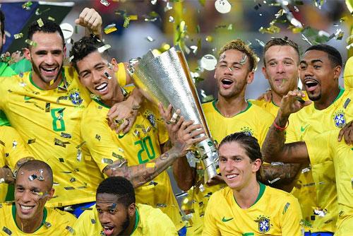 Brazil giành Cup giao hữu trong giải đấu có Argentina, Ảrập Xêút và Iraq.