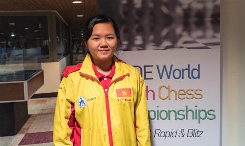 Thùy Dương đang có năm 2018 thành công với vị trí á quân quốc gia, đạt thành tích cao ở Olympiad và giờ là vô địch cờ nhanh U16 thế giới. Ảnh: Lâm Minh Châu.