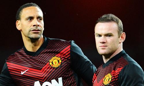 Rooney và Rio Ferdinand là những thủ lĩnh một thời tại Man Utd. Ảnh: Reuters.