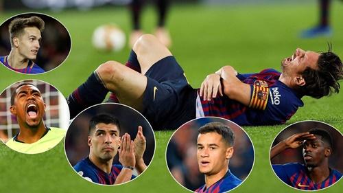 Malcom và Dembele là hai cái tên nóng lòng được ra sân nhất khi Messi chấn thương.