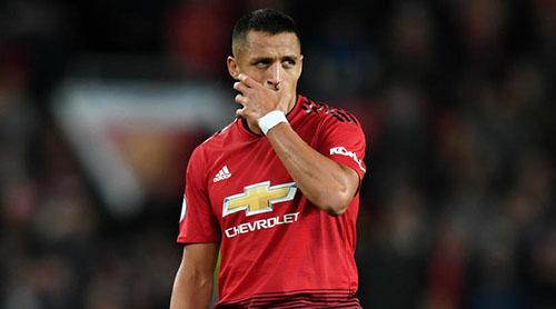 Sanchez hiện mất suất đá chính ở Man Utd, sau khi đàn em Anthony Martial chơi chói sáng trong những trận gần đây. Ảnh: Reuters.