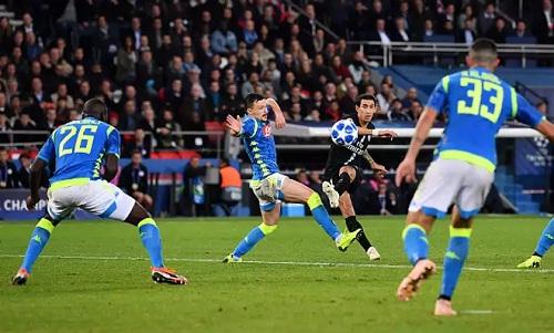 Pha cứa lòng đẳng cấp của Di Maria giúp PSG thoát thua. Ảnh: AFP.