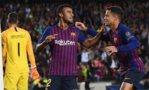 Barca thắng Inter khi đá với bộ ba Suarez, Coutinho, Rafinha trên hàng công. Ảnh: Reuters