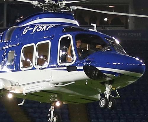Chiếc máy bay chở cố Chủ tịch Vichai trước khi xảy ra tai nạn. Ảnh: EPA.