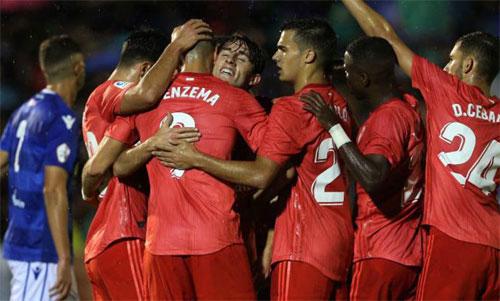 Real đại thắng trong trận ra mắt của HLV Solari