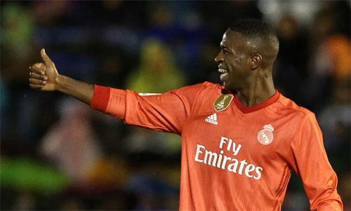 Vinicius có một trận đấu ấn tượng.