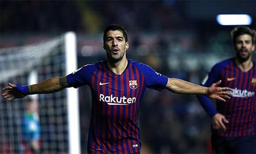 Suarez có năm bàn trong hai trận gần nhất tại La Liga.