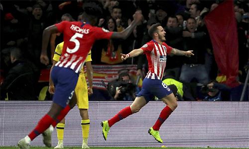 Saul chơi thay vị trí của Koke và toả sáng với bàn mở tỷ số cùng khả năng tổ chức tấn công. Ảnh: La Liga.