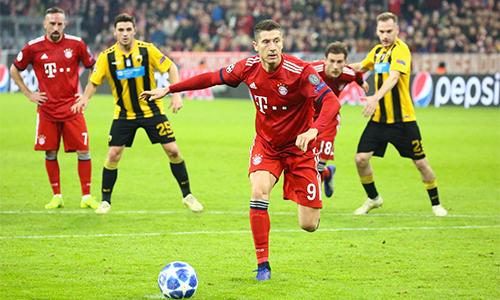 Hạ AEK 2-0, Bayern nối dài mạch thắng trên mọi giải đấu lên bốn trận, xua đi bóng ma khủng hoảng từ mạch trận tồi tệ trước đó. Ảnh: FCB.