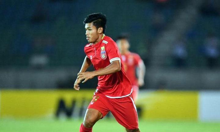 Tiền đạo Aung Thu vào sân từ hiệp hai và giúp đồng đội lấy lại niềm tin, rồi thắng ngược Campuchia.