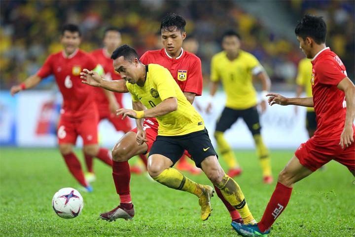 Norshahrul đang là mũi tấn công lợi hại nhất của Malaysia, khi có 3 bàn sau 2 trận. Ảnh: AFF.