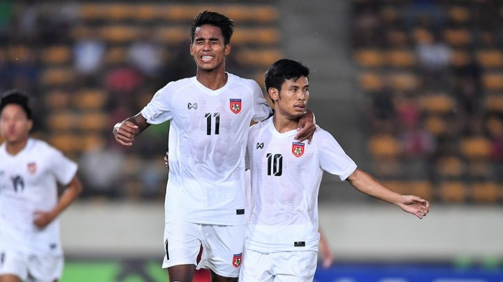 Aung Thu (số 10) là cầu thủ nguy hiểm nhất bên phía Campuchia. Ảnh: AFF.