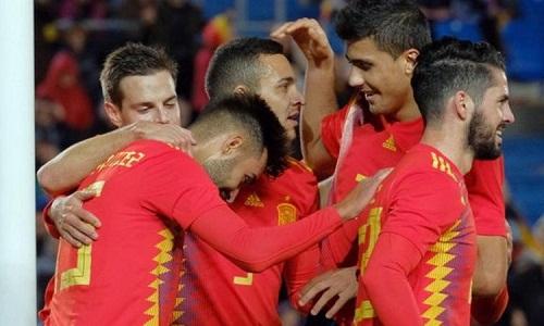 Tây Ban Nha thi đấu thiếu thuyết phục dù giành chiến thắng. Ảnh: AFP.