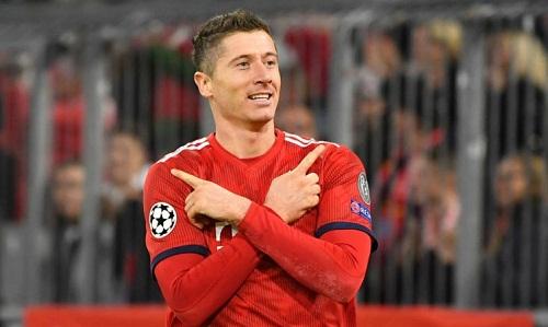Lewandowski là cầu thủ thứ bảy chạm mốc 50 bàn tại Champions League. Ảnh: Reuters.