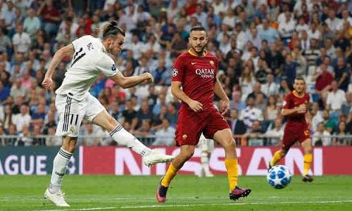 Bale góp công đầu trong chiến thắng của Real trước Roma. Ảnh: Reuters.