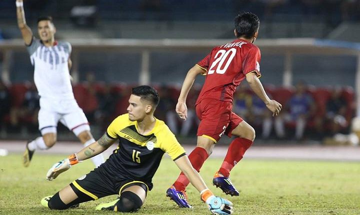 Thất bại trên sân nhà khiến Philippines đứng trước khó khăn lớn nếu muốn vào chung kết. Ảnh: Đức Đồng.