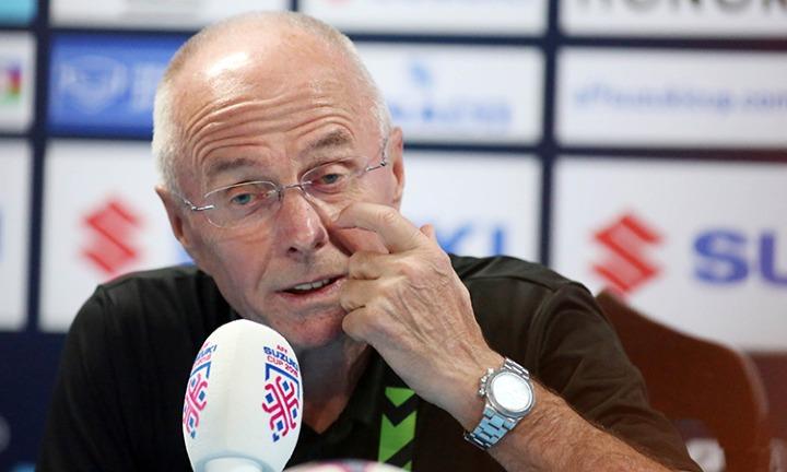 HLV Eriksson không giấuthất vọng khi Philippines thua trận và chịu bất lợi rất lớn ở lượt về. Ảnh: Đức Đồng.