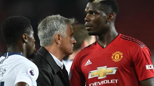 Mourinho và Pogba đang là nguyên nhân khiến nội bộ Man Utd rối ren. Ảnh:AFP.