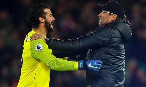 Klopp vẫn sẽ được chỉ đạo trong hai trận đấu tới tại Ngoại hạng, gặp Burnley và Man Utd. Ảnh: AP.
