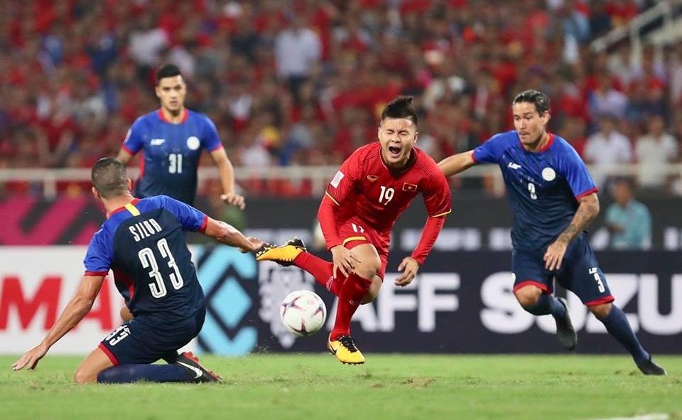 Nỗ lực tột cùng của cầu thủ Việt Nam trước Philippines