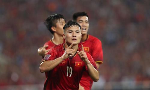 Quang Hải được bầu là cầu thủ xuất sắc của trận đấu.