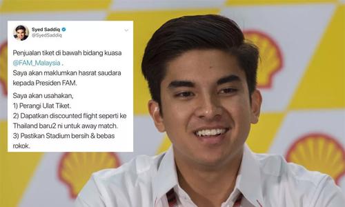 Bộ trưởng 26 tuổi của Malaysia hỗ trợ CĐV chuẩn bị cho chung kết