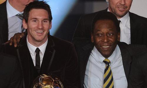 Pele chưa từng công nhận tài năng của Messi. Ảnh: RT.