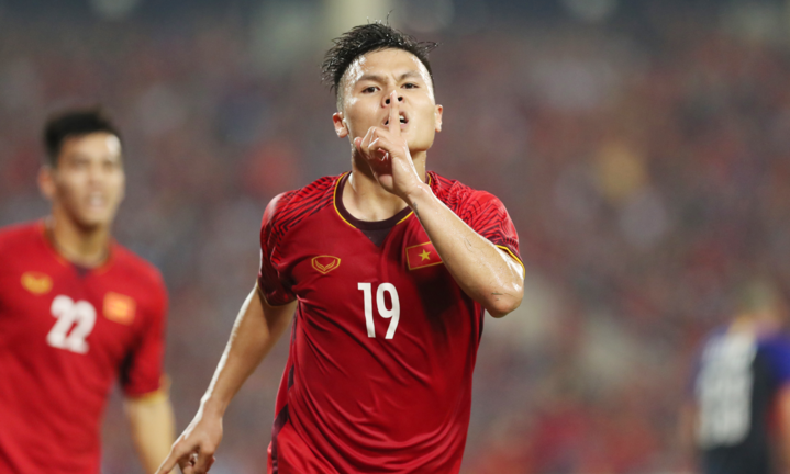 Quang Hải đang có một năm thi đấu thăng hoa ở tất cả các đội tuyển mà anh tham dự. Ảnh: Đức Đồng.