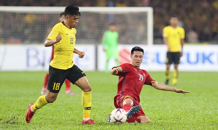 Việt Nam có lợi thế ghi hai bàn trên sân khách sau khi buộc Malaysia phải rượt đuổi tỷ số ngay tại sân Bukit Jalil. Ảnh: Đức Đồng.