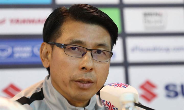 HLV Tan Cheng Hoe thừa nhận khó khăn, nhưng vững tin ở khả năng ngược dòng của Malaysia. Ảnh: Đức Đồng.