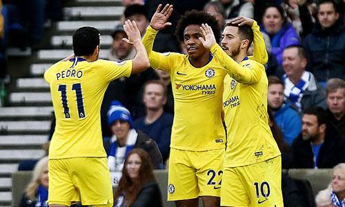 Chelsea có thể nghĩ tới việc đoạt một danh hiệu trong mùa đầu tiên của Sarri nếu chơi hết sức tại Europa League. Ảnh: EPA.