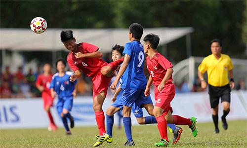 Giải bóng đá U13 quốc tế Việt Nam -Nhật Bản đã diễn ra thành công tốt đẹp. Ảnh: HĐ.