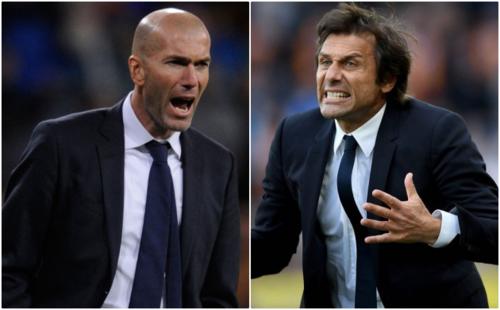 Zidane và Conte đều đang là người tự do. Ảnh: Reuters.