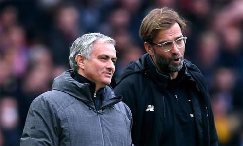 Klopp cho rằng việc bị Man Utd không ảnh hưởng đến uy tín của Mourinho. Ảnh: AFP.
