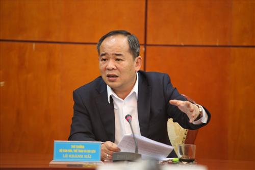 Ông Lê Khánh Hải từng phụtrách lĩnh vực thể thao trên cương vị Thứ trưởng Bộ VH, TT & DL.
