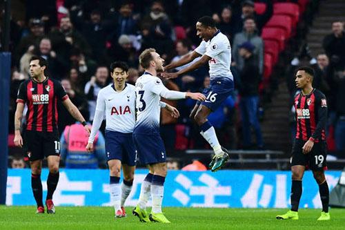 Tottenham có trận đấu nhàn nhã trước Bournemouth. Ảnh: PA.